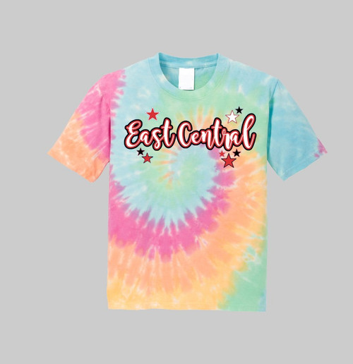 East Central Youth Rainbow Tie Dye Tee