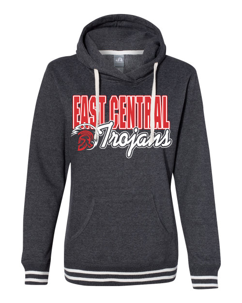 East Central Ladies Relay Hoodie Ross Rams Circle
