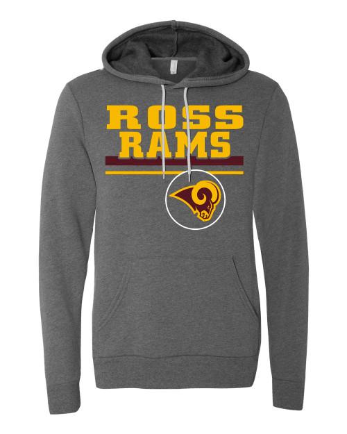 Ross Vintage Gray Unisex Hoodie