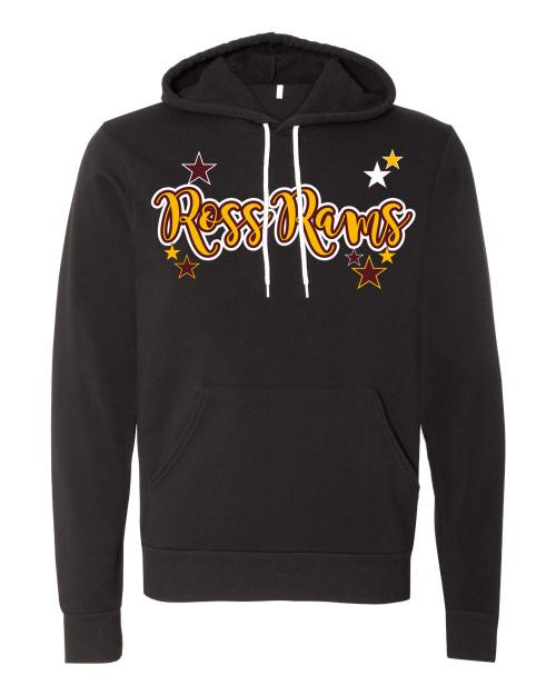 Ross Vintage Black Unisex Hoodie