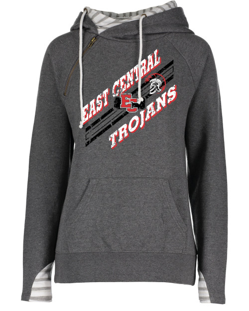 East Central Ladies Striped Double Hood