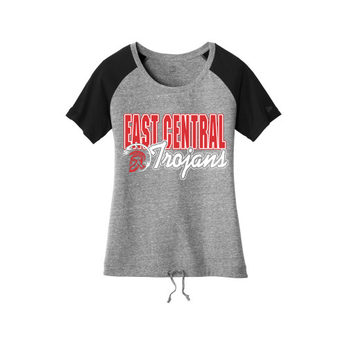 East Central Ladies Triblend Cinch Bottom Tee