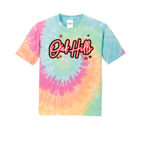 Oak Hills YOUTH Rainbow Tie Dye Tee
