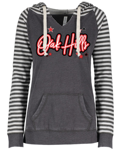 Oak Hills Ladies Striped Sleeve Hoodie