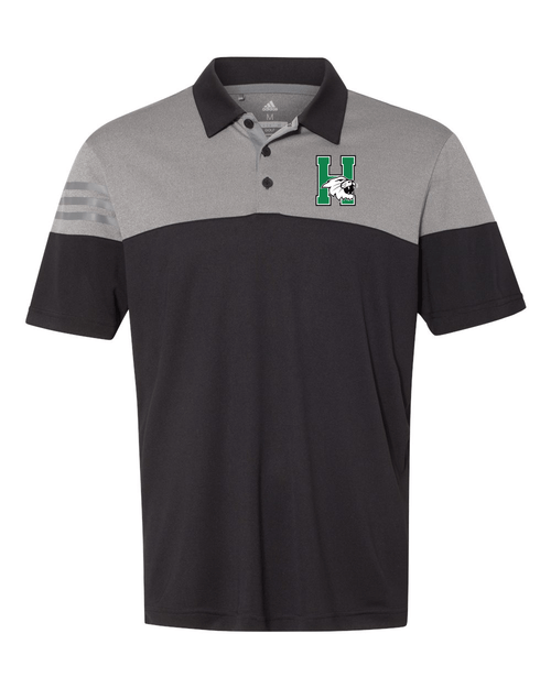Harrison Adidas  Heather 3-Stripes Block Polo