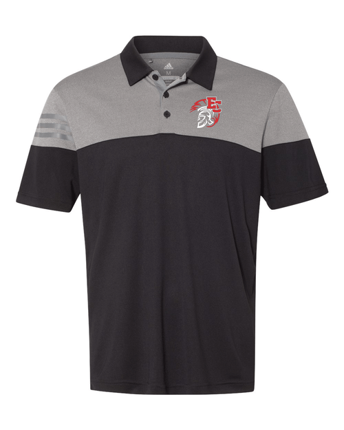 East Central Adidas  Heather 3-Stripes Block Polo