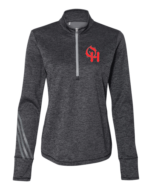 Oak Hills Ladies Adidas Brushed Terry Heathered Quarter-Zip Pullover