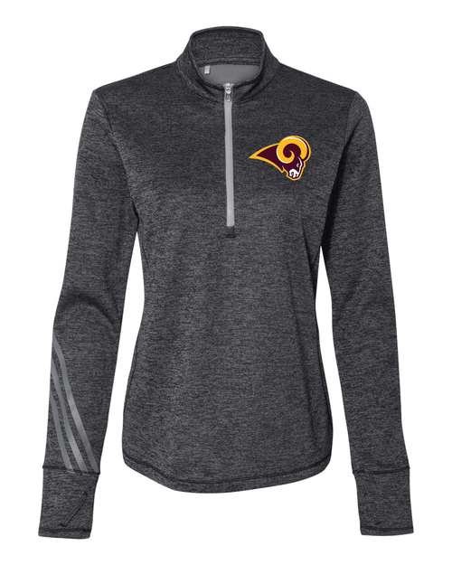 Ross Ladies Adidas Brushed Terry Heathered Quarter-Zip Pullover