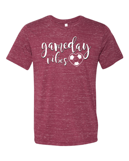 Gameday Vibes Soccer Unisex Textured Marble Tee