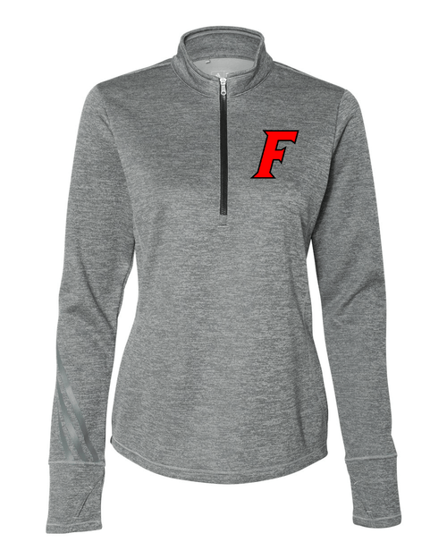 Fairfield Ladies Adidas Brushed Terry Heathered Quarter-Zip Pullover