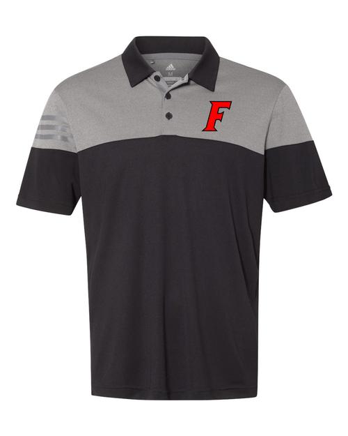 Fairfield Adidas Heather 3-Stripes Block Polo