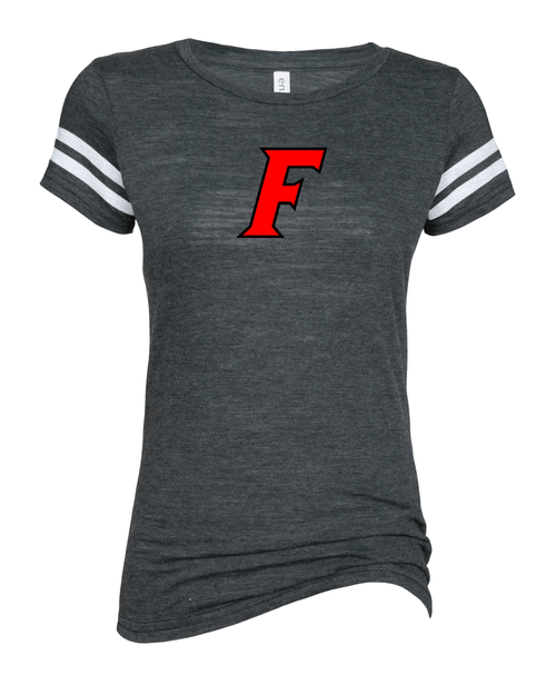 Fairfield Ladies Vintage Football Tee