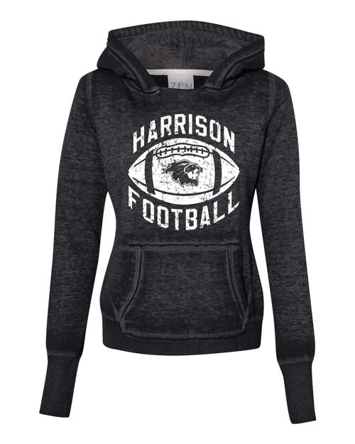 Harrison Ladies Burnout Hoodie