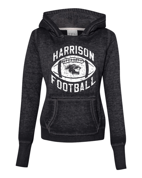 Harrison Ladies Burnout Hoodie