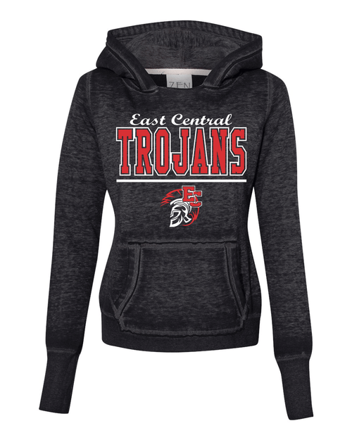 East Central Ladies Burnout Hoodie