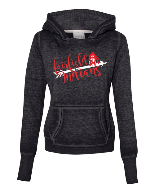Fairfield Ladies Burnout Hoodie