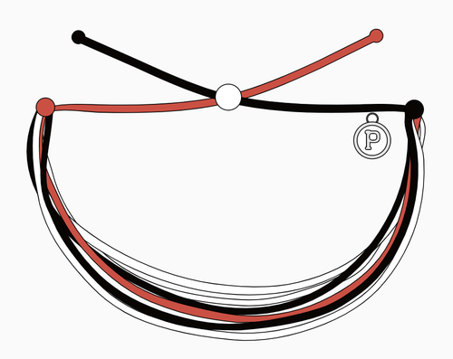 Red/Black/White Pura Vida Bracelet
