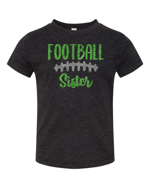 Harrison Toddler Glitter Football Sister Tee