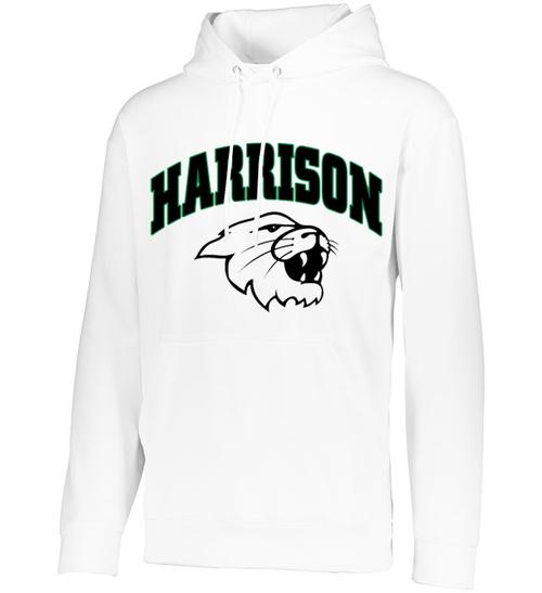 Harrison Unisex White Drifit Hoodie