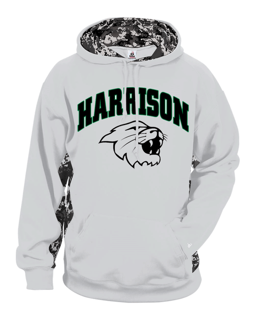 Harrison YOUTH Digital Camo White Drifit Hoodie