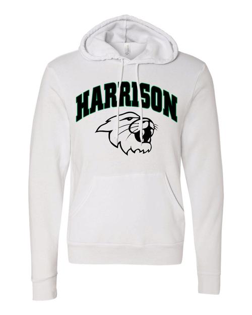Harrison Unisex White Vintage Hoodie
