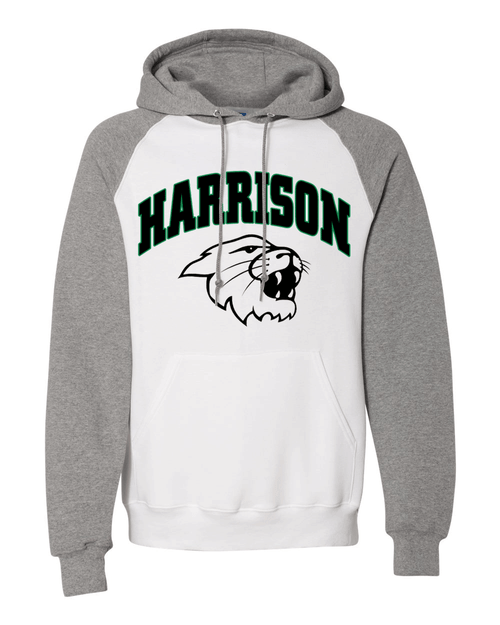 Harrison Unisex Raglan White Fleece Hoodie