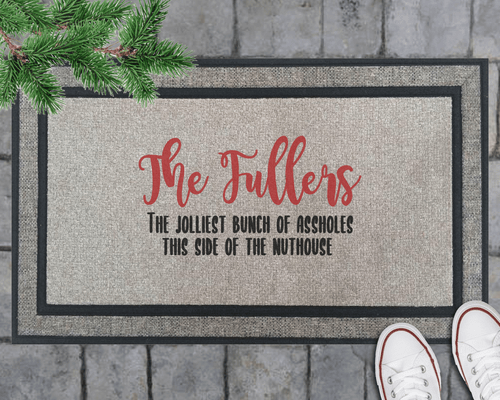 Jolliest Bunch Christmas Doormat- Personalized!
