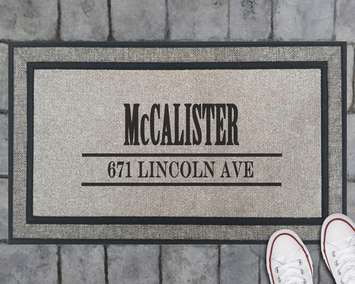 Name & Address Doormat- Personalized!