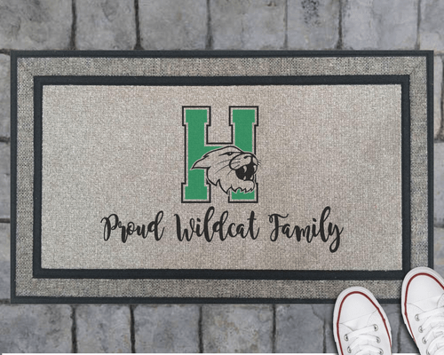 Proud Wildcat Family Welcome Doormat