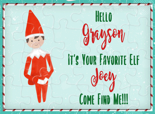 Personalized Elf on a Shelf Puzzle