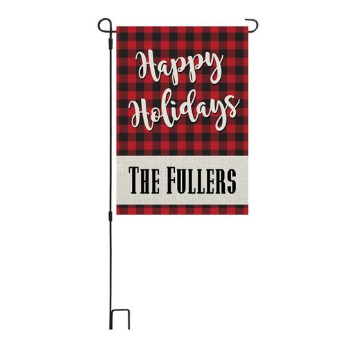 Happy Holidays Garden Flag