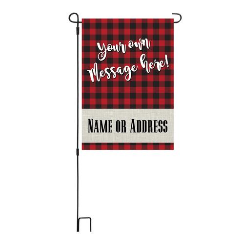 Holiday Custom Message Garden Flag