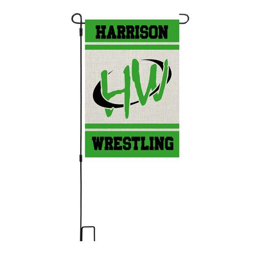 Harrison Wrestling Garden Flag