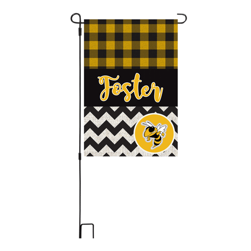Three Rivers Plaid/Chevron Personalized Garden Flag
