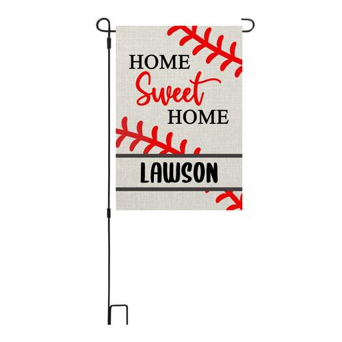 Home Sweet Home Baseball Garden Flag