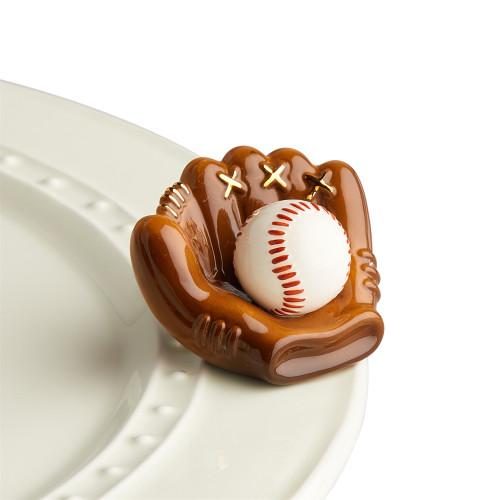 Nora Fleming Mini Catch some fun Baseball Mitt A217