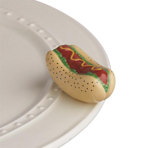 Nora Fleming Mini Chicago Dog Hot Dog A231