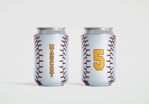 Baseball Stitch Personalized Can Cooler Koozie