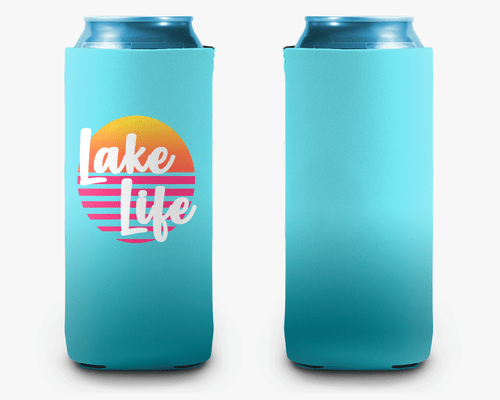 Lake Life Ombre Sunset Personalized Can Cooler Koozie