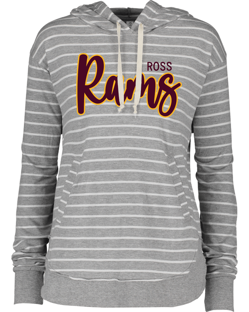Ross Ladies Lightweight Striped Hoodie