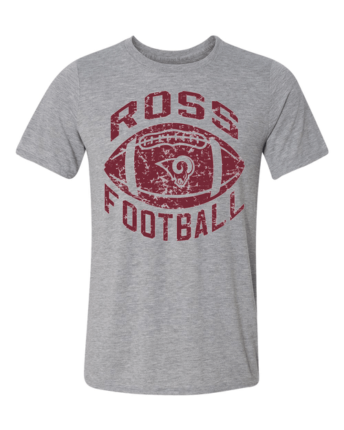 Ross Youth Football Sport Gray Performance Tee