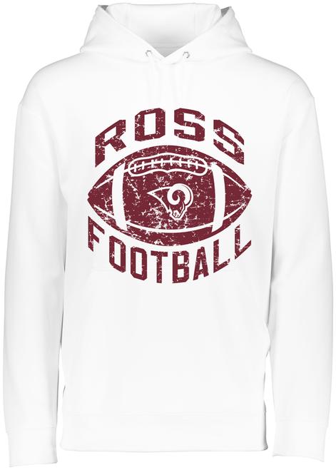 Ross Football White Drifit Hoodie