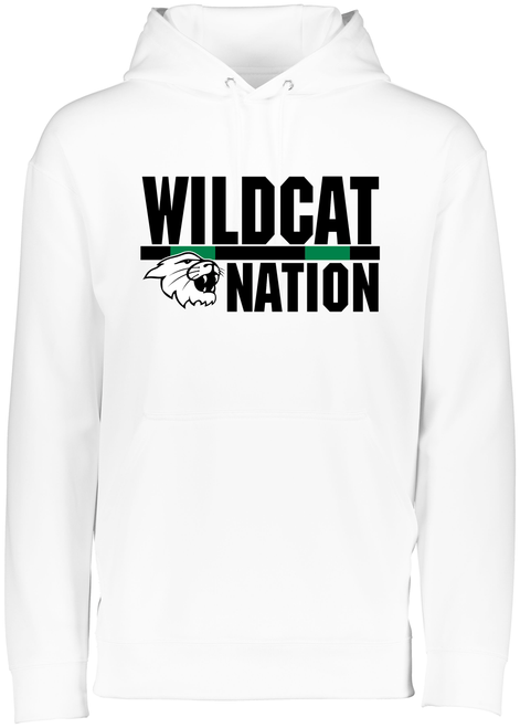 Wildcat Nation 2020 Youth White Drifit Hoodie