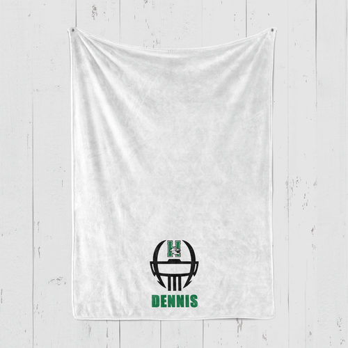 Harrison Blanket Football Logo Personalized Blanket