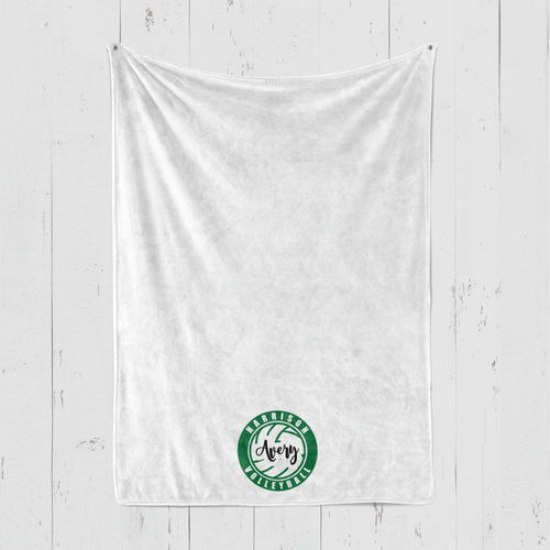 Harrison Blanket Volleyball Logo Personalized Blanket