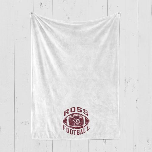 Ross Blanket Football Logo Personalized Blanket