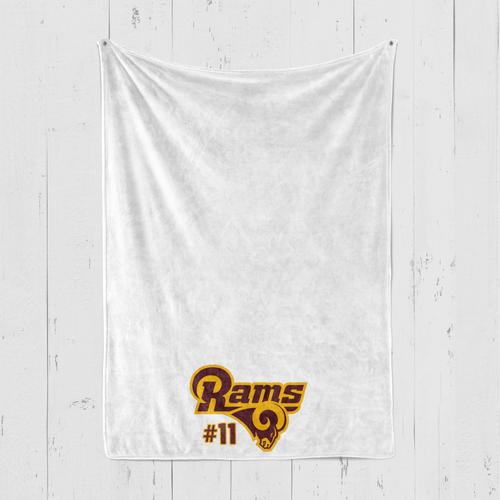 Ross Blanket Rams Logo Personalized Blanket