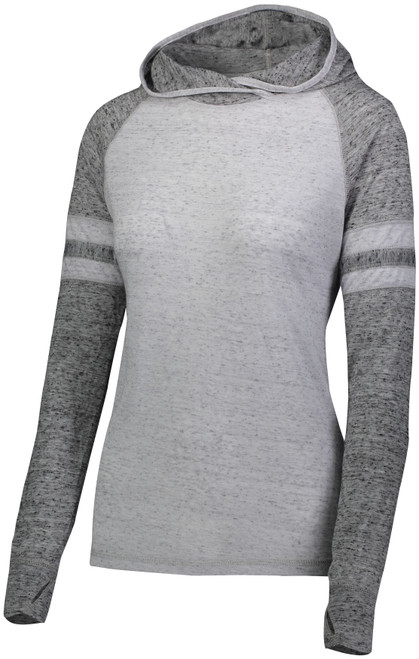 SALE Ladies Vintage Gray Hooded Tee
