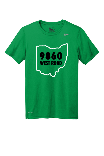 SALE 9860 West Road Nike Youth Kelly Green Drifit Tee