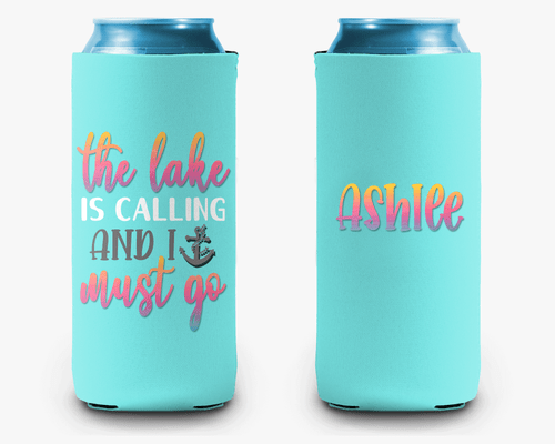 Lake is Calling Personalized Can Cooler Koozie